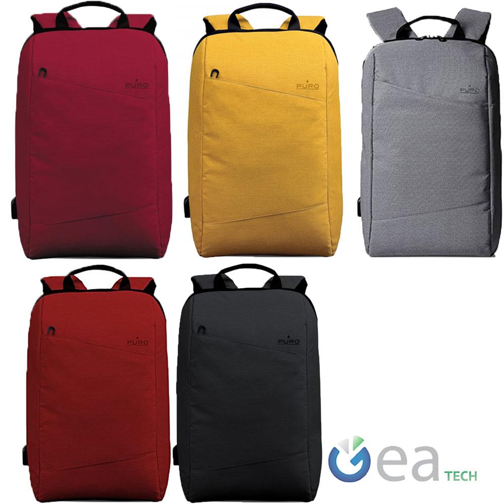 """Puro backpack byday mochila con puerto USB para equipos portátiles macbook//15/"""" 15,4/"""" 15,6/"""""""